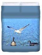 California Gull - Canada Geese Duvet Cover