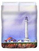California Lighthouse Point Arena Duvet Cover