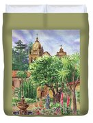 California Mission Carmel Basilica Duvet Cover