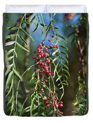 California Pepper Tree Leaves Berries I Duvet Cover