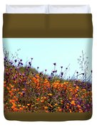 California Poppies And Wildflowers Duvet Cover