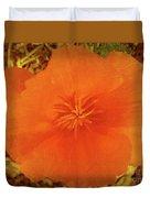 California Poppy Glow Duvet Cover