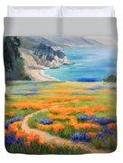 California Spring Big Sur Duvet Cover