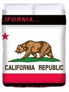 California State Flag Duvet Cover