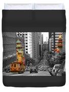 California Street San Francisco Duvet Cover