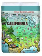 California Usa Duvet Cover