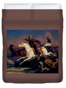 Californians Catching Wild Horses With Riata. Duvet Cover