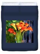 Calla Lilies Bouquet Duvet Cover
