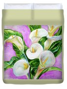 Calla Lillies 3 Duvet Cover