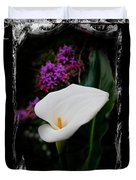 Calla Lily Splash Duvet Cover