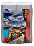 Calle De Colores Duvet Cover
