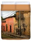 Calle En Suchitoto Duvet Cover