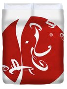 Calligraphy Cola Duvet Cover