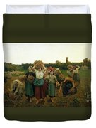 Calling In The Gleaners Duvet Cover