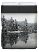 Calm And Frosty Duvet Cover
