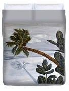 Calm Beach Palm Duvet Cover