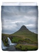Calm Before The Storm At Kirkjufell Duvet Cover