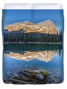 Calm O'hara Lake And Reflection At Sunrise Duvet Cover