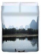 Calm On The Li River Duvet Cover by Gloria & Richard Maschmeyer - Printscapes