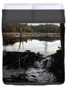 Calm Photo Of Water Flowing Duvet Cover