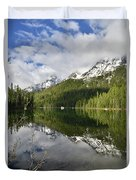 Calm Reflection On String Lake Duvet Cover