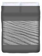Calm Sands In Monochrome Duvet Cover