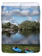 Caloosahatchee Kayaking Duvet Cover