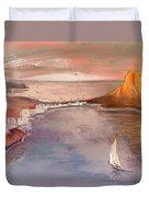 Calpe At Sunset Duvet Cover by Miki De Goodaboom