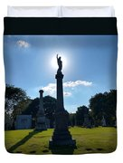 Calvary Catholic Cemetery Duvet Cover