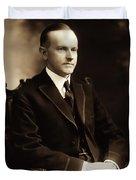 Calvin Coolidge Portrait Duvet Cover