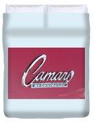 Camaro Emblem By Chevrolet Duvet Cover