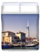 Camber Dock, Old Portsmouth Duvet Cover