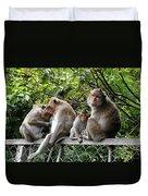 Cambodia Monkeys 5 Duvet Cover