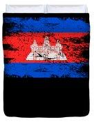 Cambodia Shirt Gift Country Flag Patriotic Travel Asia Light Duvet Cover