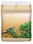 Cambodian Fishing Boat Duvet Cover