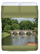 Cambridge Punting On The River Duvet Cover