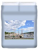Camden Maine Harbor Duvet Cover