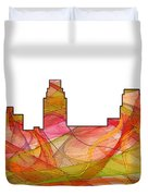 Camden Nj Skyline Duvet Cover