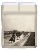 Camel Caravan, C1911 Duvet Cover