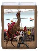Camel Dance Pushkar Duvet Cover