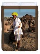 Camel Trader Pushkar Duvet Cover