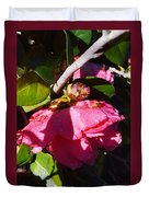 Camellia Light And Bud Duvet Cover