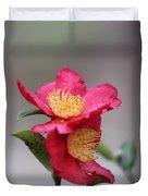 Camellia Sasanqua Yuletide 1 Duvet Cover