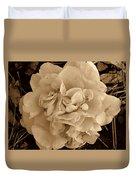 Camellia Sepia Duvet Cover