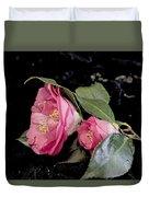 Camellia Still Life Duvet Cover