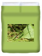Cameo Green Dragonfly Duvet Cover