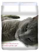 Resting Face Duvet Cover by Debbie Cundy