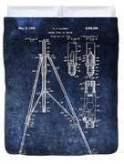 Camera Tripod Patent Duvet Cover