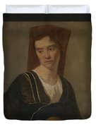Camille Corot   A Peasant Woman Duvet Cover