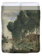 Camille Corot   Landscape At Arleux Du Nord Duvet Cover